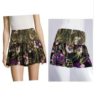 Free People LA Nights Floral Mini SkirtFlare XS